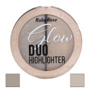 Duo Iluminador Highlighter Glow Ruby Rose  cor  2 Golden  HB-7522