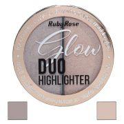 Duo Iluminador Highlighter Glow Ruby Rose  cor  3 Golden Rose  HB-7522