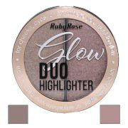 Duo Iluminador Highlighter Glow Ruby Rose  cor  4 Golden Bronze  HB-7522