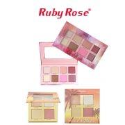 Kit iluminadores Ruby Rose Suncet Highlighter + Cheekflush LANÇAMENTO