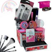 Maleta de maquiagem + kit maquiagem infantil BZ33