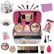 Maleta + Kit com maquiagens Belle Angel muitos Itens BZ50