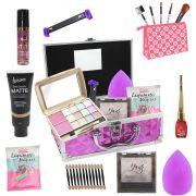 Maleta + Kit com maquiagens Belle Angel Tango + muitos Itens BZ78