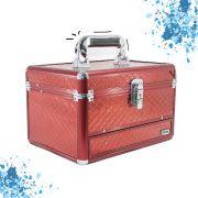 Maleta Maquiagem Bijuteria e Acessórios vazia Cisne lc5154 cor Vermelha