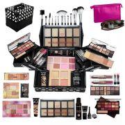 Maleta + Maquiagem Completa Profissional 100% Ruby Rose bz34