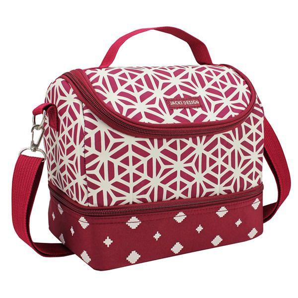 8ae863e28 ... Bolsa Térmica c/ 2 Compartimentos BELLA VITTA Jacki Design Vinho -  Bazar Na Web ...