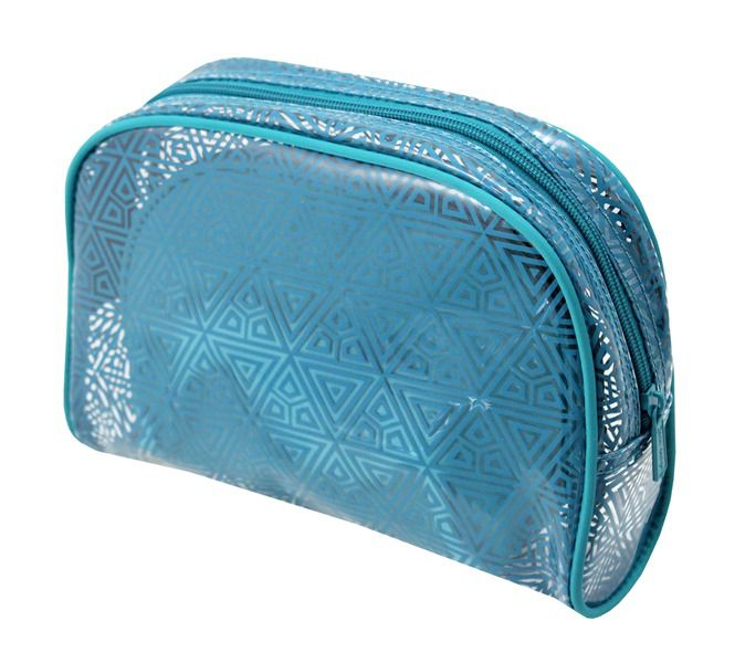 b81ea39a4f ... Kit Necessaire 3 em 1 Geométrica ÉTNICA Jacki Design TURQUESA - Bazar  Na Web