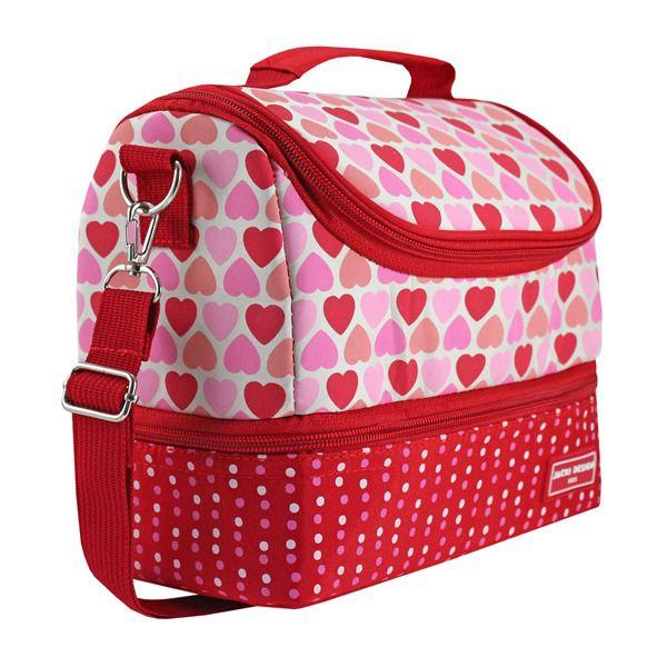 e720479c51 ... Lancheira Térmica c  2 Compartimentos - Coração Vermelho SAPEKA Jacki  Design Vermelho - Bazar Na ...