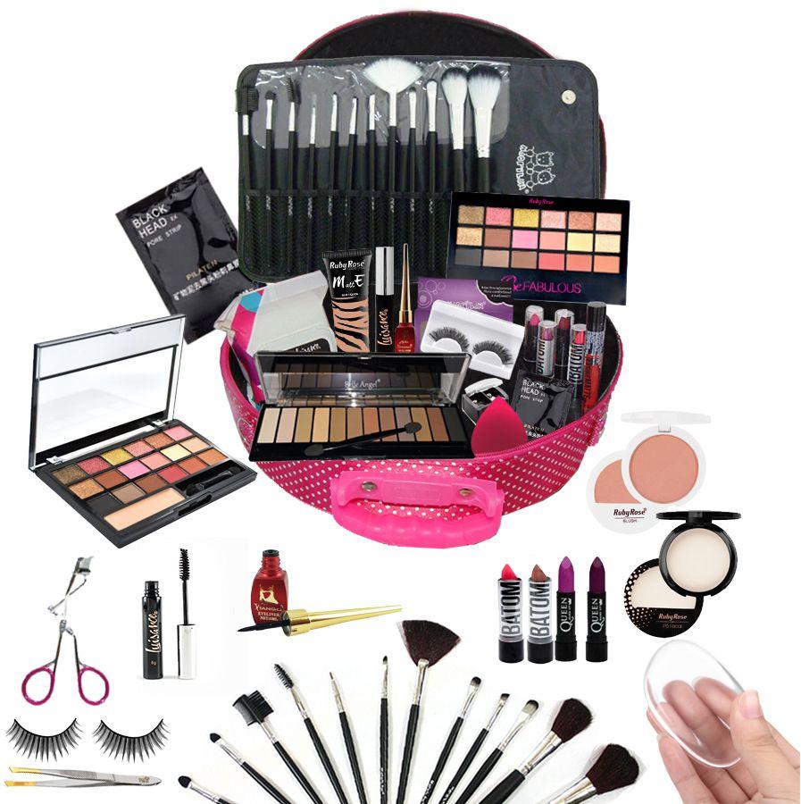 Maleta Maquiagem Completa Profissional Ruby Rose Luisance + Brindes BZ01