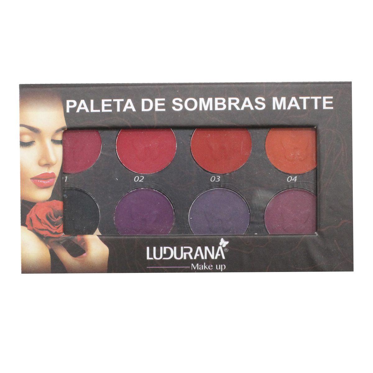 Paleta de Sombras Ludurana Matte 08 cores Original  7789