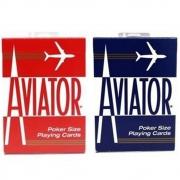 Baralho Aviator Standard Vermelho e Azul - (PAR)