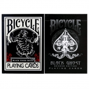 Baralho Bicycle  Black Ghost e Ellusionist Black Tiger ( Kit com 2 Baralhos )