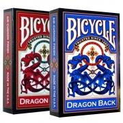 Baralho Bicycle Dragon Back Azul e Vermelho ( Kit com 2 Baralhos )