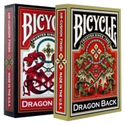 Baralho Bicycle Dragon Back Dourado e Vermelho ( Kit com 2 Baralhos )
