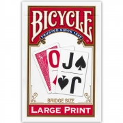 Baralho Bicycle Large Print Red