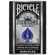 Baralho Bicycle  Prestige Dura-Flex 100%  Plastico Azul