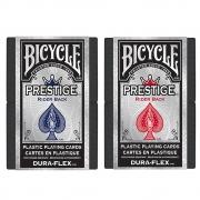 Baralho Bicycle  Prestige Dura-Flex 100%  Plastico Azul e Vermelho - Par