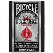 Baralho Bicycle  Prestige Dura-Flex 100%  Plastico Vermelho