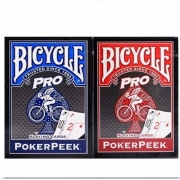 Baralho Bicycle Pro Poker Peek  Par ( Azul e Vermelho)