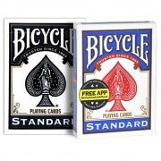 Baralho Bicycle Standard  Azul e Preto ( Kit com 2 Baralhos )