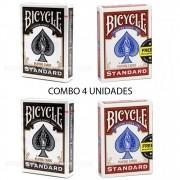 Baralho Bicycle Standard Black & Red (04 Decks)