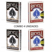 Baralho Bicycle Standard Black & Red (04 Decks)