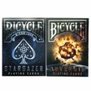 Baralho Bicycle Stargazer  e Asteroid (kit com 2 baralhos)