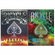 Baralho Bicycle Stargazer Nebula  e Stargazer Sunspot (kit com 2 baralhos)