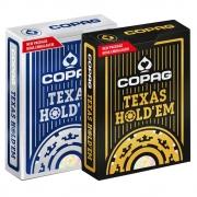 Baralho Copag de Poker  Texas Hold`Em Azul e Texas Hold'Em Dourado ( Kit com 2 Baralhos )