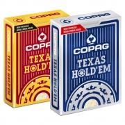 Baralho Copag de Poker  Texas Hold`Em Borgonha e Texas Hold'Em Azul ( Kit com 2 Baralhos )