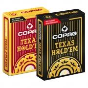 Baralho Copag de Poker  Texas Hold`Em Borgonha e Texas Hold'Em Dourado ( Kit com 2 Baralhos )