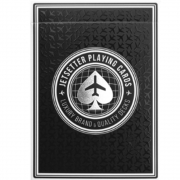 Baralho Premier Edition in Jet Blank by Jetsetter Playing Cards (Private Reserve)
