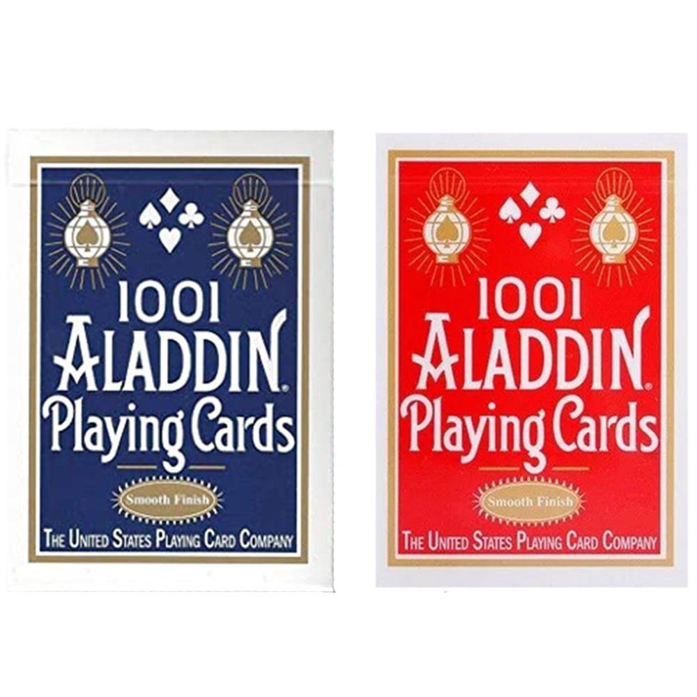 Baralho Aladdin 1001 Standard Smooth Finish - Azul e Vermelho - Par