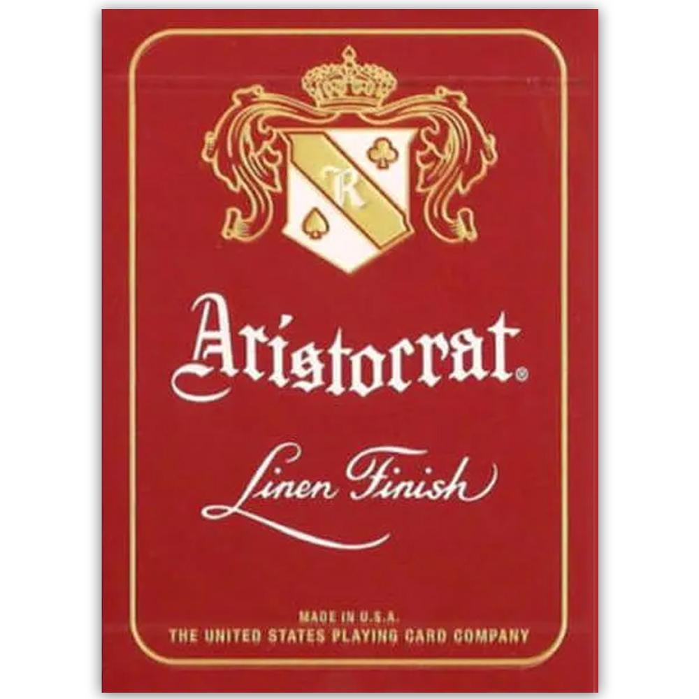Baralho Aristocrat Vintage 727 Linen Finish Vermelho