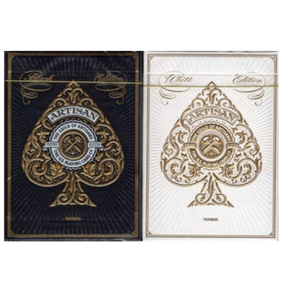 Baralho Artisan White and Black  - Premium Edition (kit com 2 baralhos )