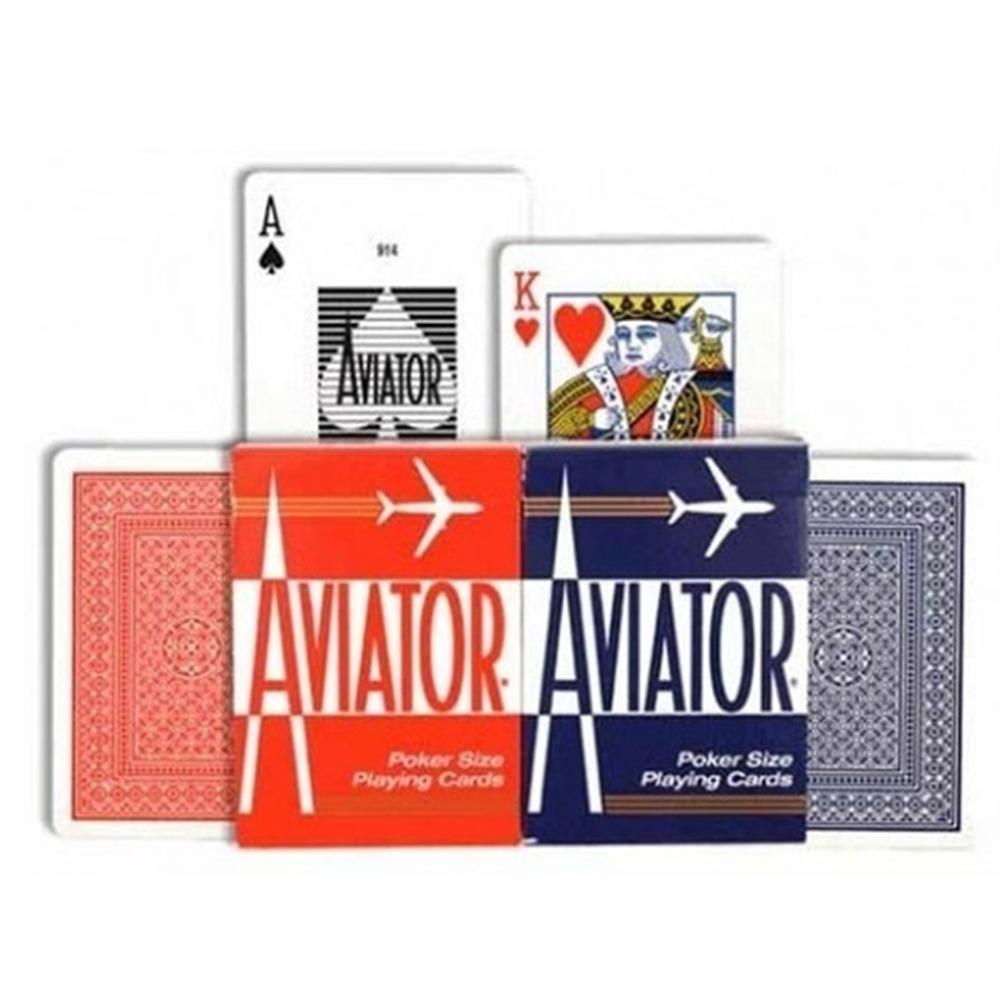 Baralho Aviator Standard Vermelho e Azul (Combo 6 decks)