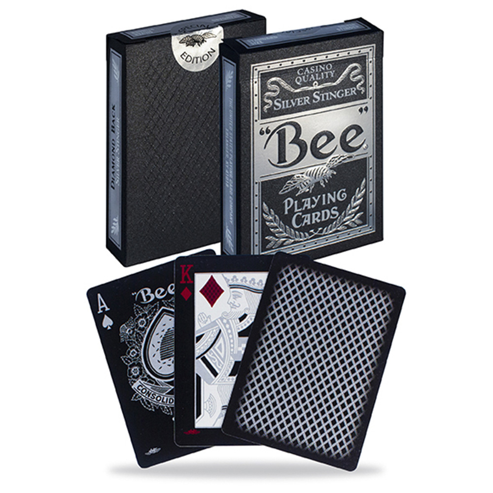 Baralho BEE Silver Stinger  - Premium