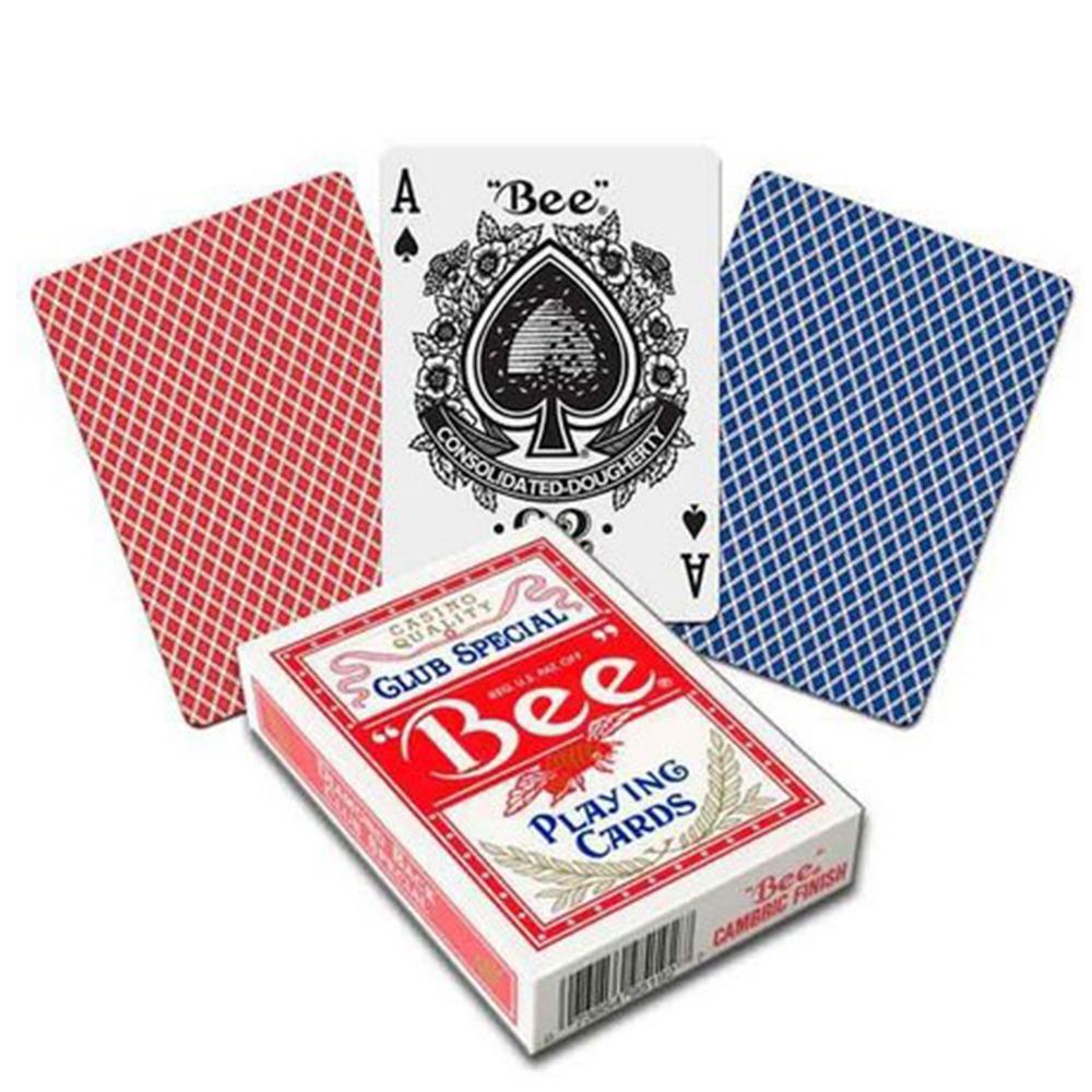 Baralho BEE Standard vermelho e azul (PAR)