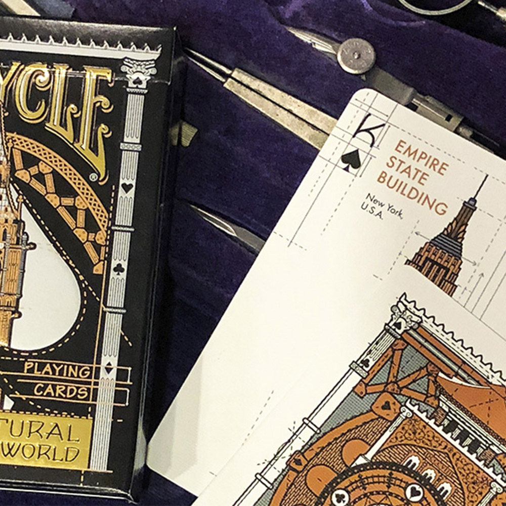 Baralho Bicycle  Architectural Wonders of the World- Premium Deck