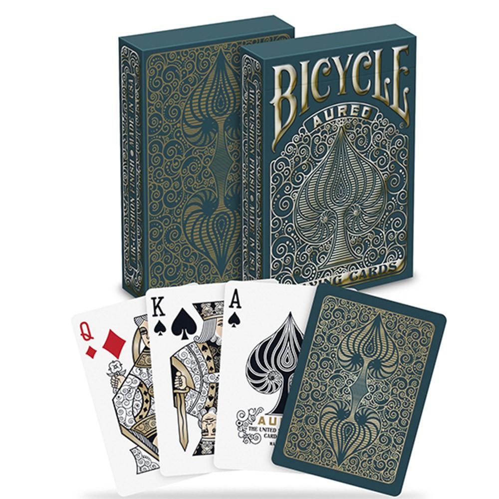 Baralho Bicycle Aureo e Bicycle Aurora ( Kit com 2 baralhos )