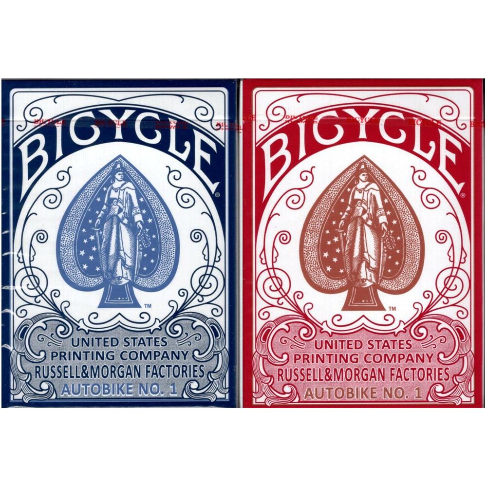 Baralho Bicycle Autobike - Azul e Vermelho - Par