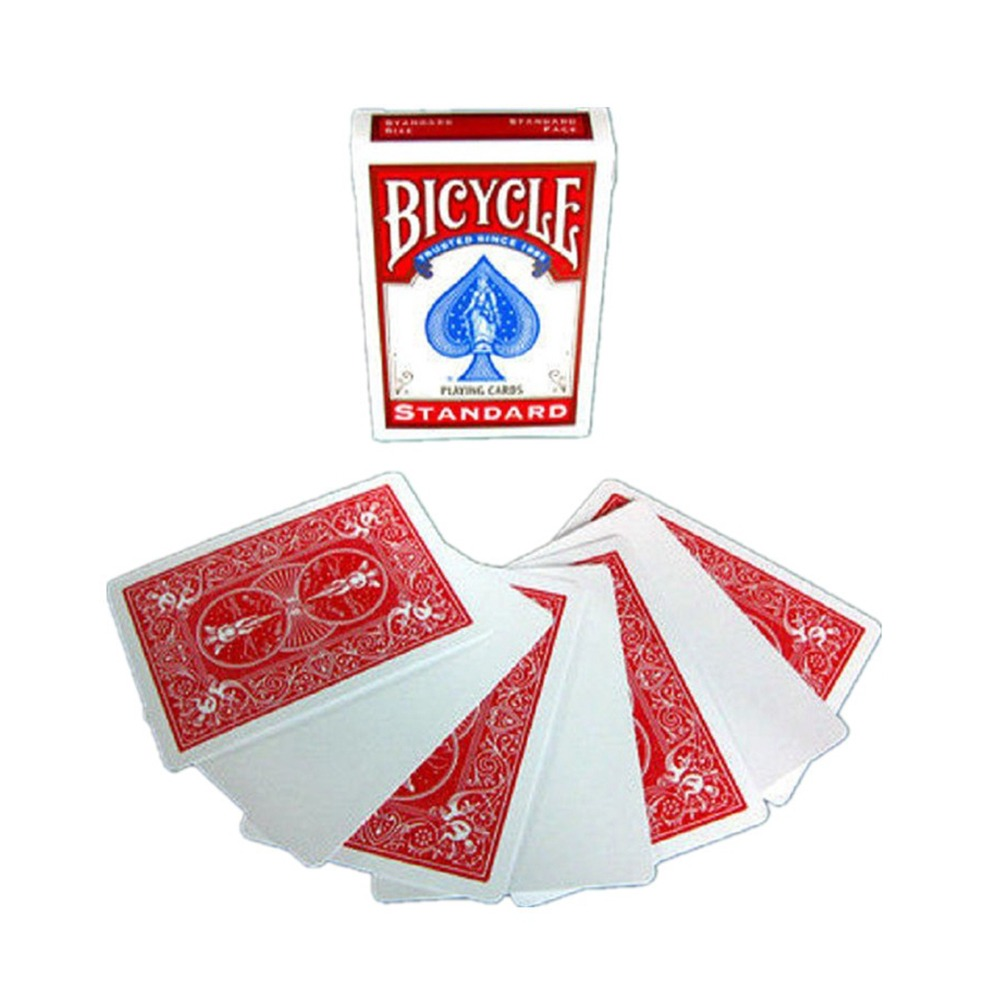 Baralho Bicycle Blank Face Red Card
