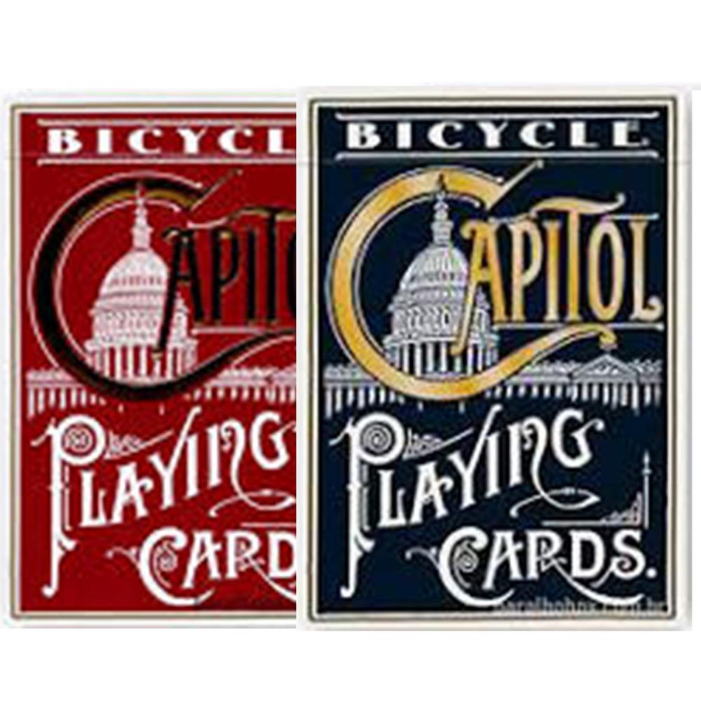 Baralho Bicycle Capitol Azul e Vermelho (Combo com 2 unidades)