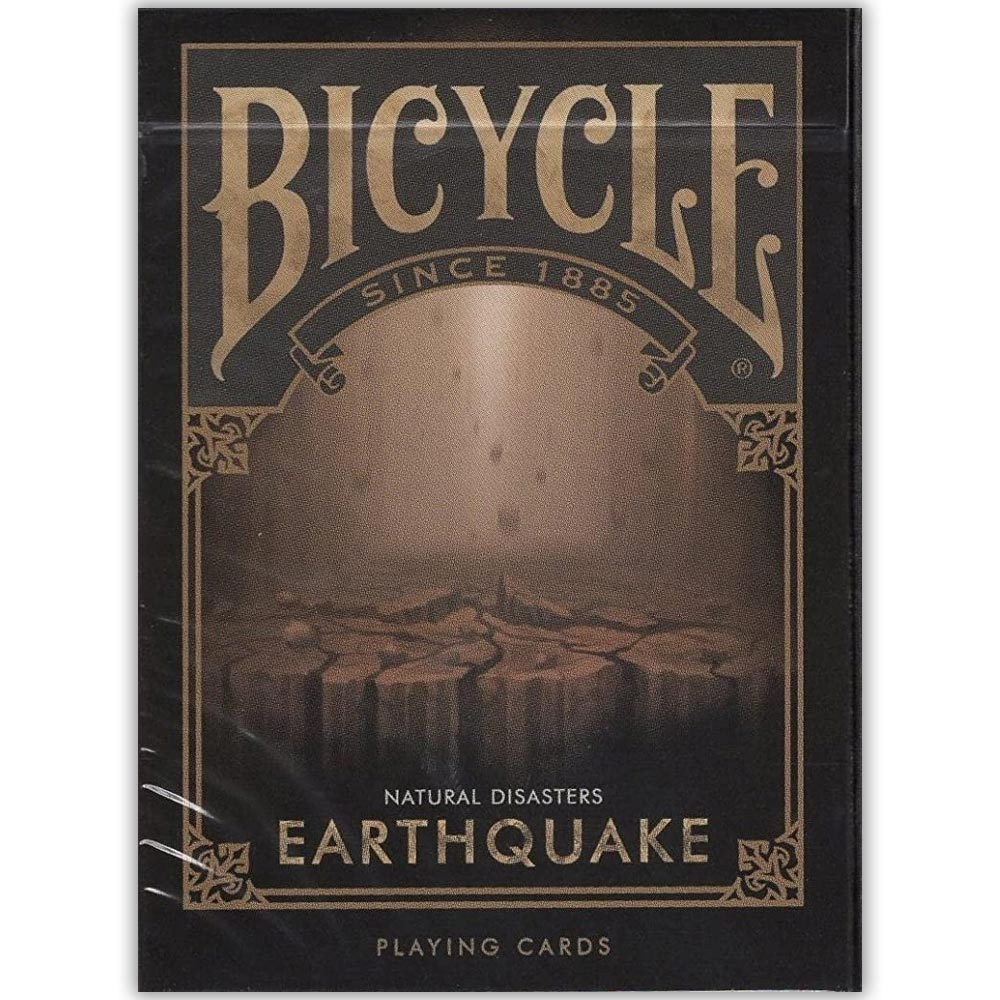 Baralho Bicycle Desastres Naturais EARTHQUAKE