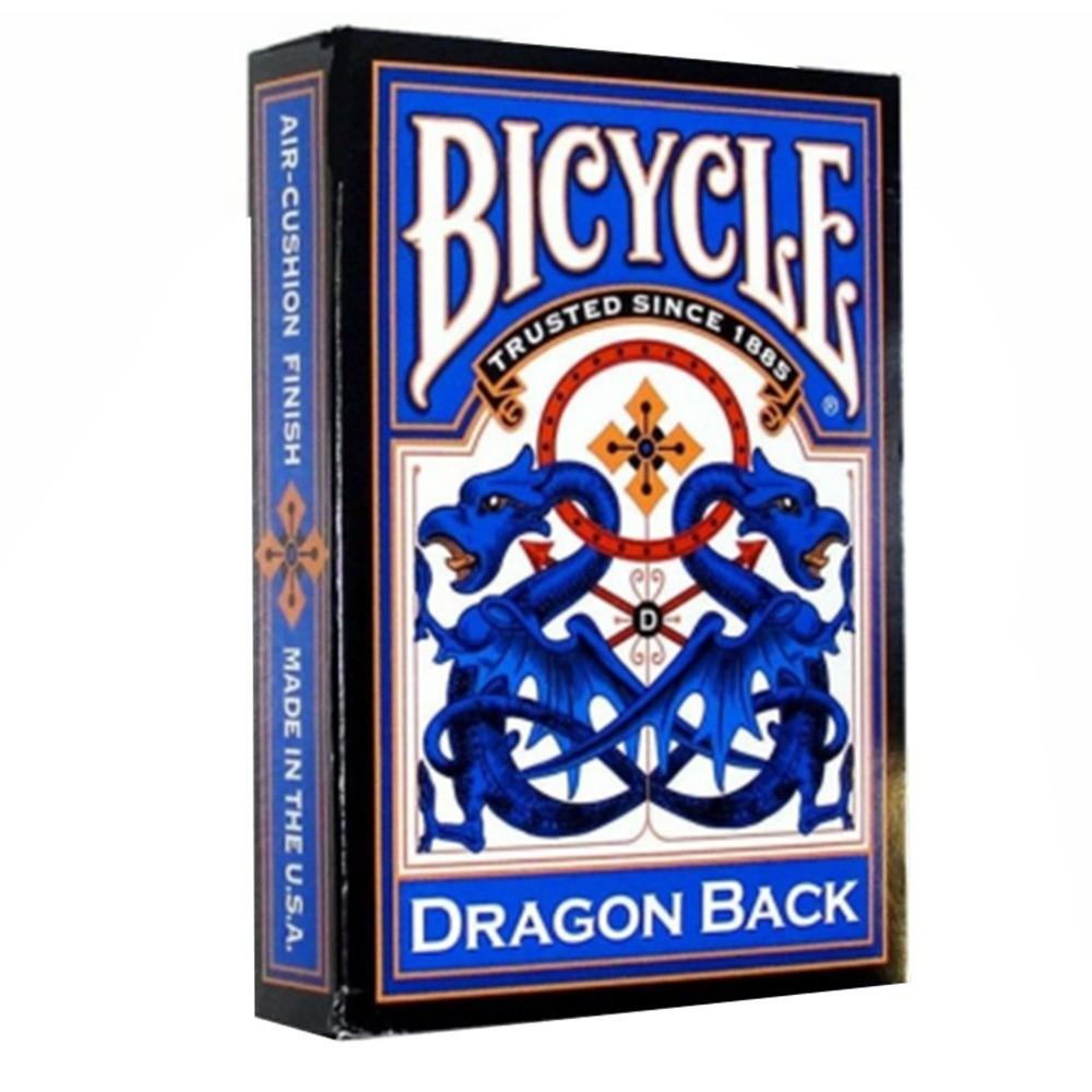 Baralho Bicycle Dragon Back Dourado e Azul ( Kit com 2 Baralhos )