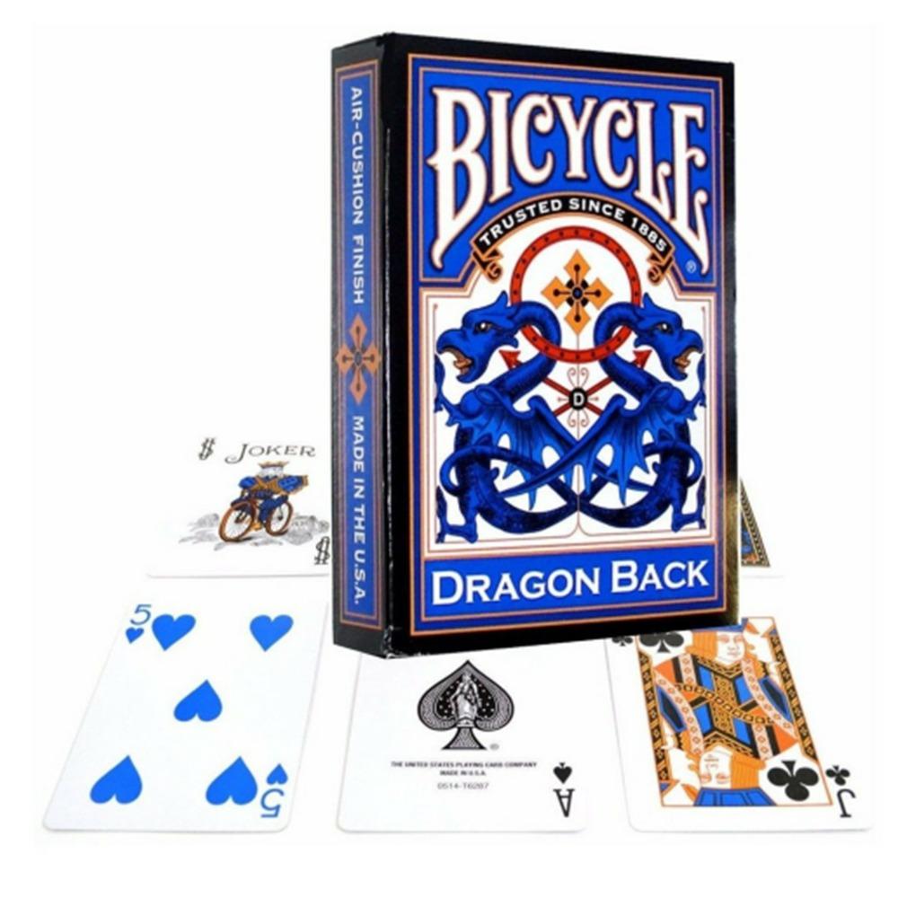 Baralho Bicycle Dragon Back Dourado - Vermelho - Azul ( Kit com 3 baralhos)