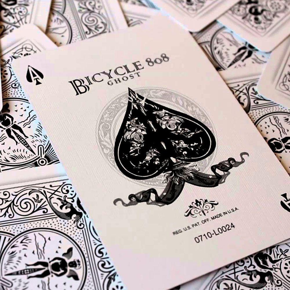 Baralho Bicycle Ghost Branco - PREMIUM