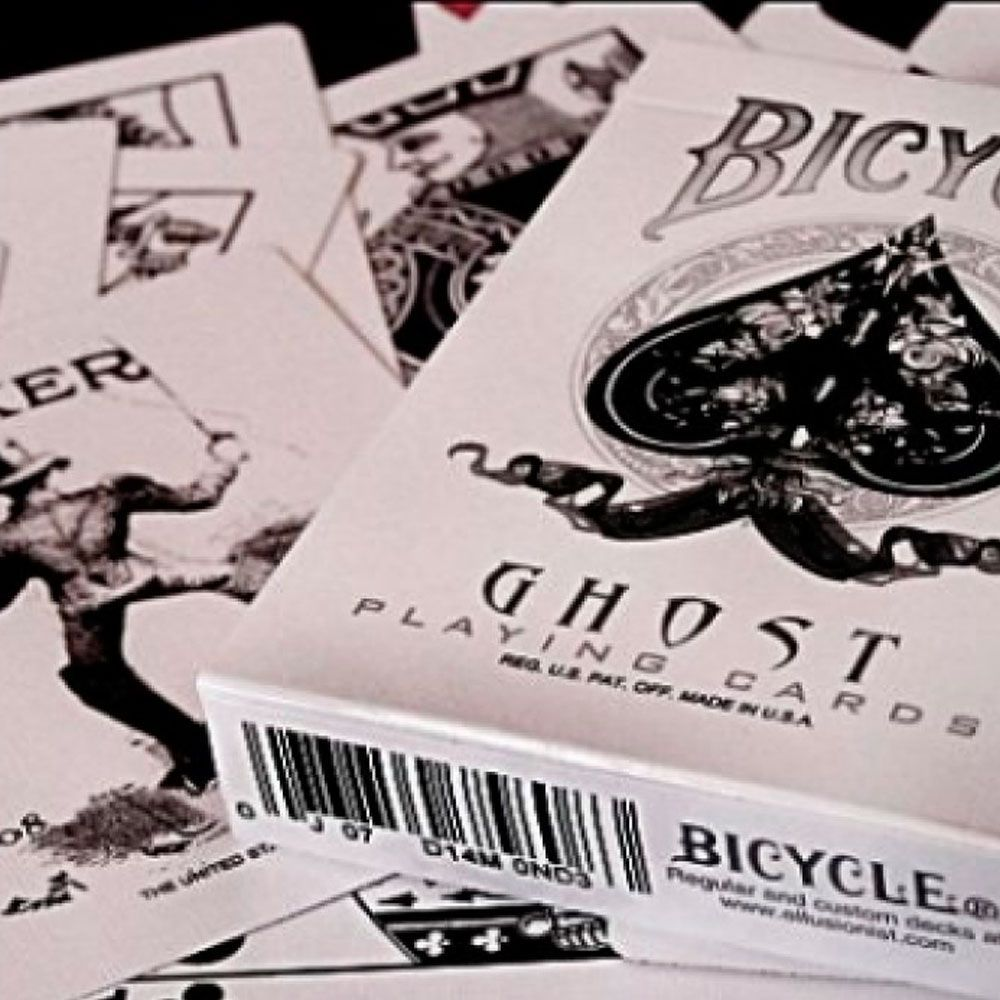 Baralho Bicycle Ghost White - PREMIUM