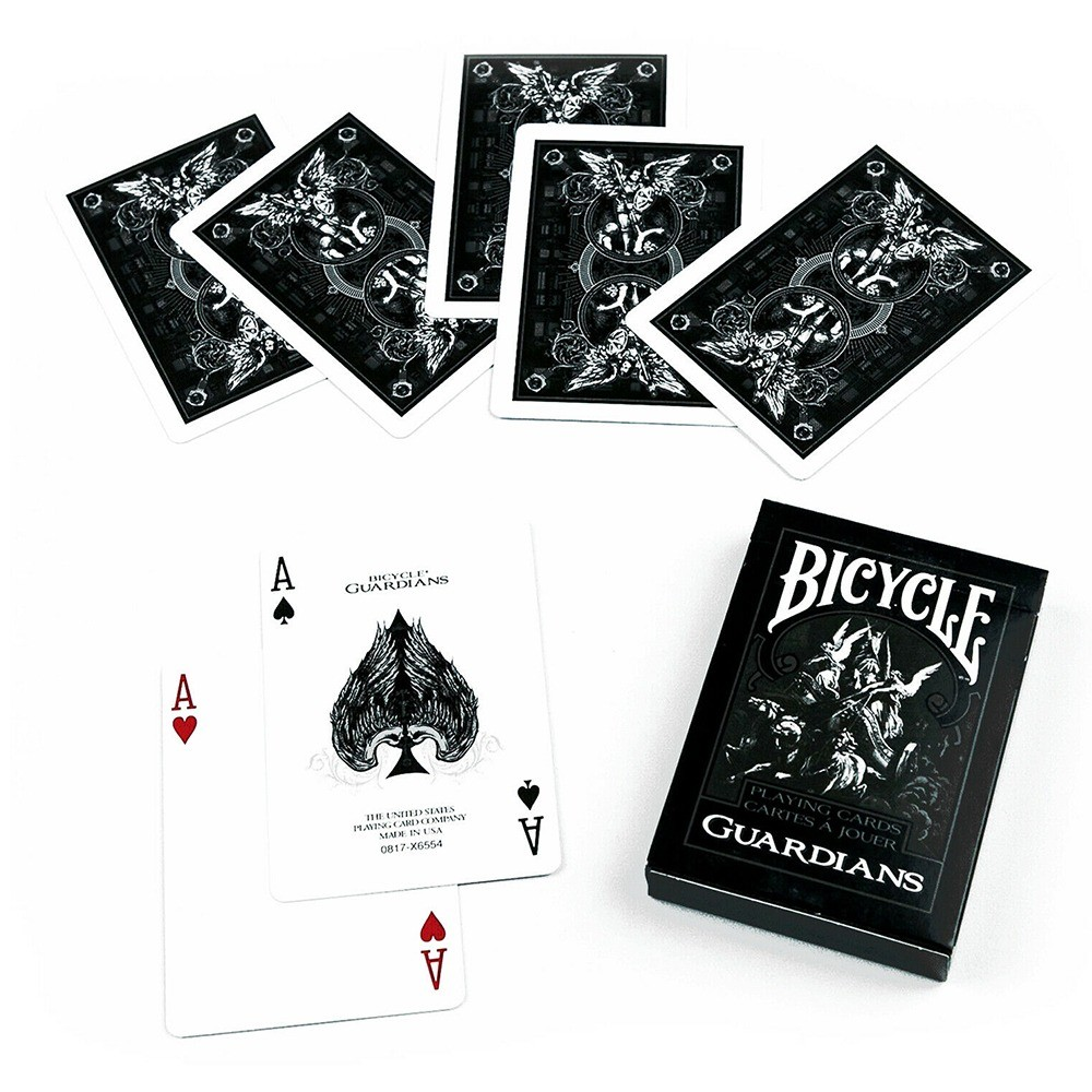Baralho Bicycle  Guardians e Bicycle Black Ghost ( Kit com 2 Baralhos )