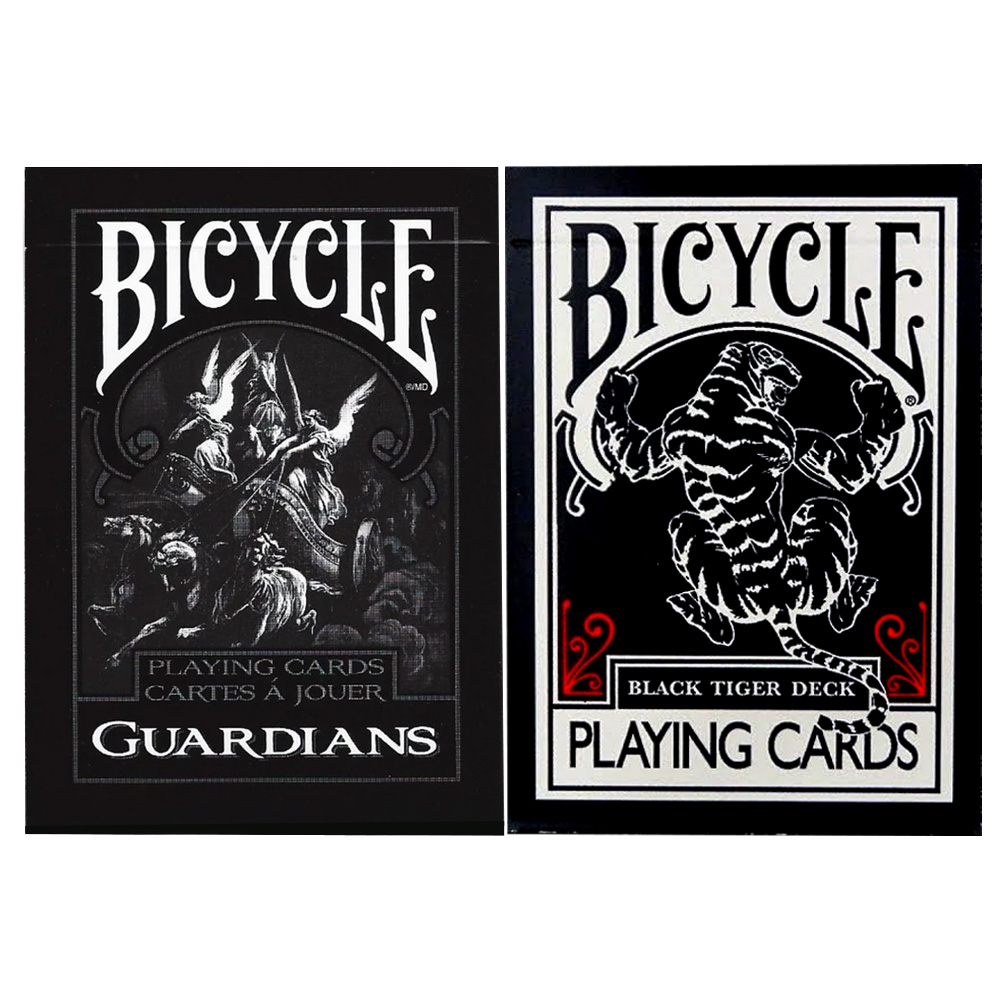 Baralho Bicycle  Guardians e Ellusionist Black Tiger ( Kit com 2 Baralhos )